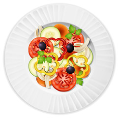 A Plate of Vegetable Salad