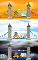Set of London bridge scenes