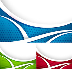 Set of different colorful abstract vectors