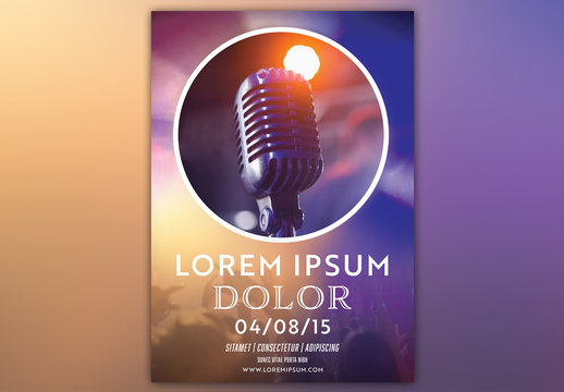 Event Poster with a Microphone Photo