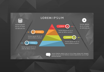 Infographic Layout with a Pyramid