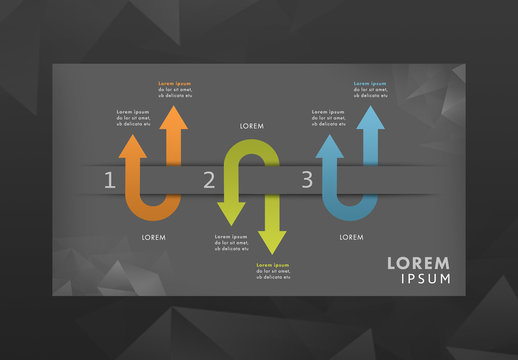 Infographic Layout with Arrows
