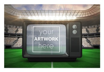 TV in a Stadium Mockup