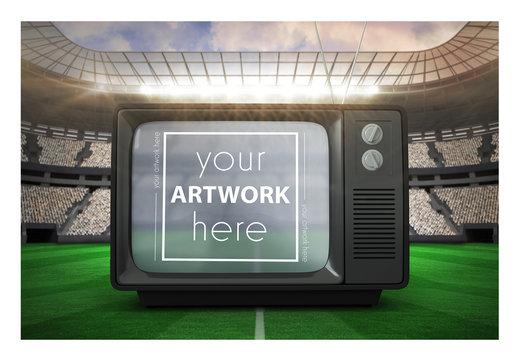 TV in a Stadium Mockup