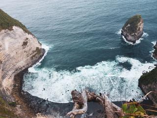Top view of beautiful Kelingking Beach in Nusa Penida, Bali, Indonesia