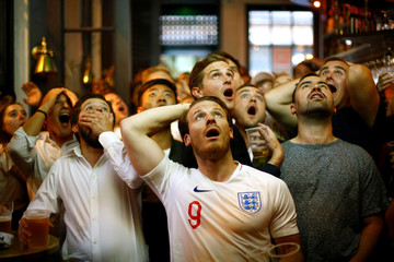World Cup - England fans watch Croatia v England