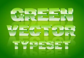 Green Metallic 3D Typeset