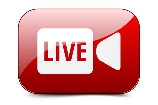 Live Video Button illustration