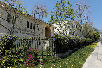 Immaculate Heart High School where Meghan Markle attended as a student is seen in Los Angeles