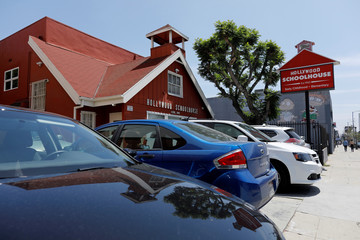 """The school where Meghan Markle went as a young child, formerly called """"Little Red School House"""" is seen in Los Angeles"""