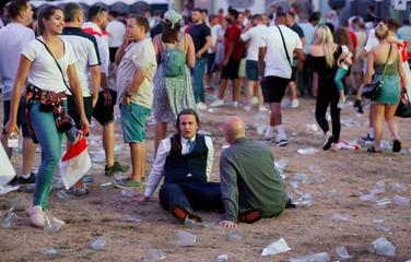 World Cup - England fans watch Croatia v England