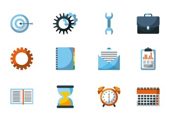 20 Colorful Project Management Icons