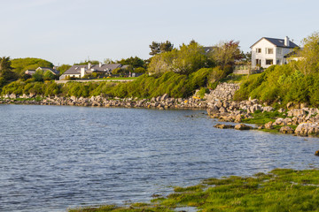 Houses in Galway bay