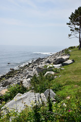 Ocean Coast sandy beach and blue horizon
