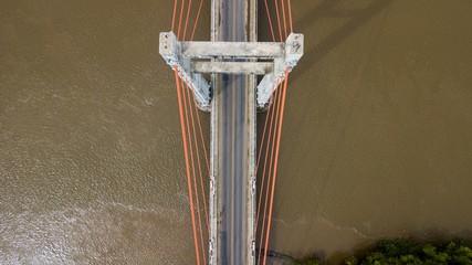 Beautiful aerial view of the Bridge Puente de la amistad Taiwan in Costa Rica