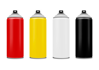 Spray with paint on white background.Spray paint.Vector illustration.