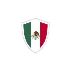 Mexico Flag Emblem Vector Template Design Illustration