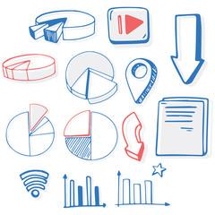 A Set of Doodle Symbol