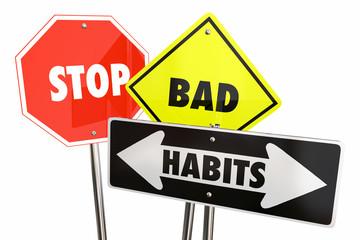 Stop Bad Habits End Break Addiction 3d Illustration