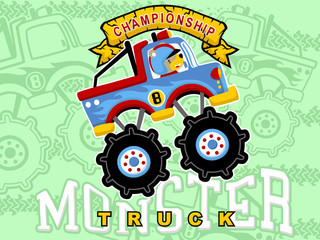 cartoon vector of monster truck