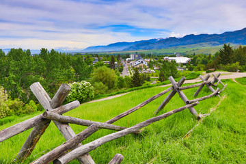 The city of Bozeman, Montana sits at the base of the Rocky Mountains and is the gateway to Yellowstone National Park.