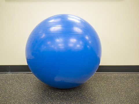 Isolated Blue Fitness Ball