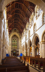 Wimborne Minster Church in Dorset England