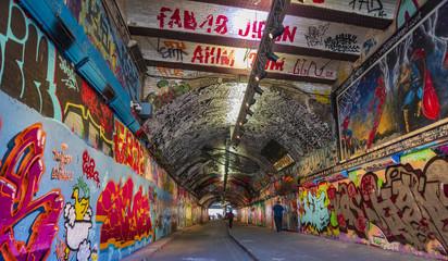 Leake Street Graffiti Tunnel in London