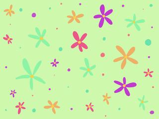 꽃 모양의 일러스트