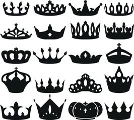 王冠 アイコン ランキング 白黒 セット