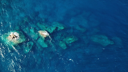 Aerial drone photo coastline and ocean