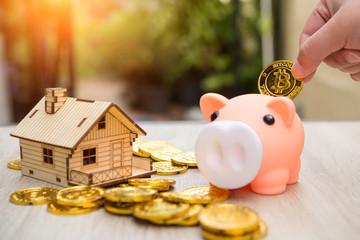 Real estate or home savings - piggy bank