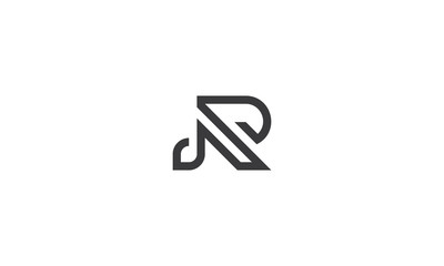 initial abstract R logo icon vector