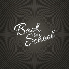 Stock vector illustration calligraphy Back to School. Four backgrounds EPS 10