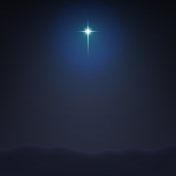 Stock vector illustration Bethlehem Star minimalistic background. The Birth of Jesus Christ. EPS 10