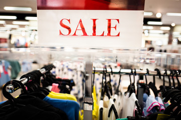 Shopping sale sign