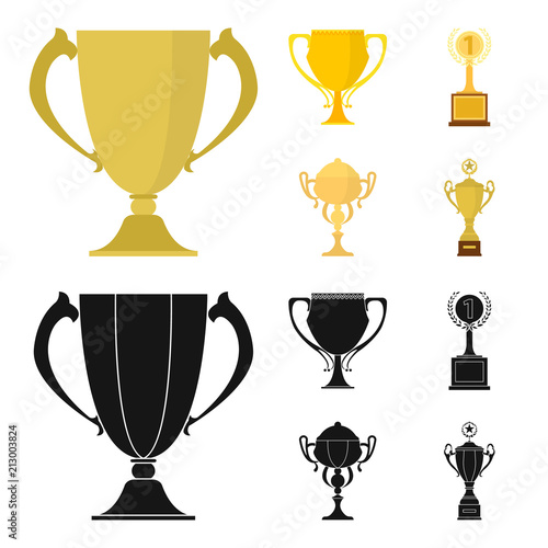 Gold Cup Cartoonblack Icons In Set Collection For Design Winners