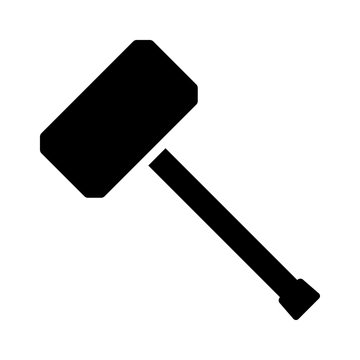 Hammer or mallet for mauling flat vector icon for apps and websites