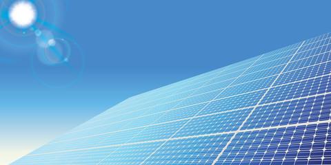 Green revolution and renewable energy concept. Solar panel illustration. Flat design. Vector illustration.