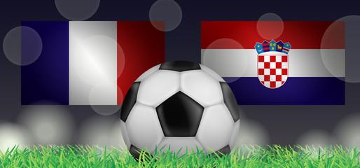 Fußball 2018 - Finale (Frankreich vs Kroatien)