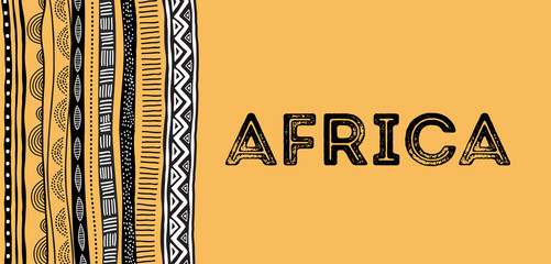 African background, flyer with tribal traditional grunge pattern