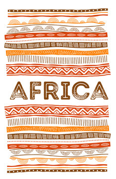 African background, flyer with tribal traditional grunge pattern. Concept design