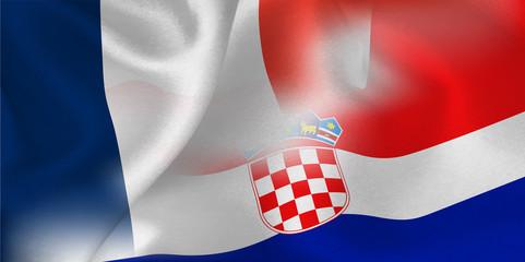 フランス クロアチア 国旗 サッカー