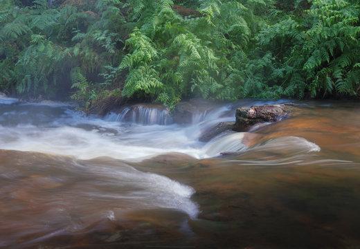 long exposure of stream in nature