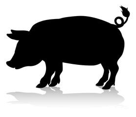 Pig Farm Animal Silhouette