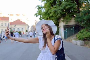 Girl making a selfie
