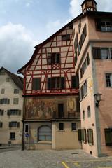 Ein Haus in Stein am Rhein