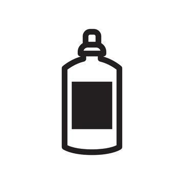 Black and white line out bottle icon. For menu cafe takeaway, icons for cafe, app, packaging.