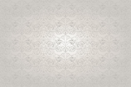 white wedding background with a pearl shine, royal, vintage with classic Baroque pattern, Rococo with darkened edges, wedding background(card, invitation, banner)
