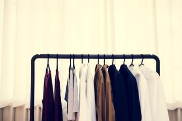 Various of new fashion at clothing Shop